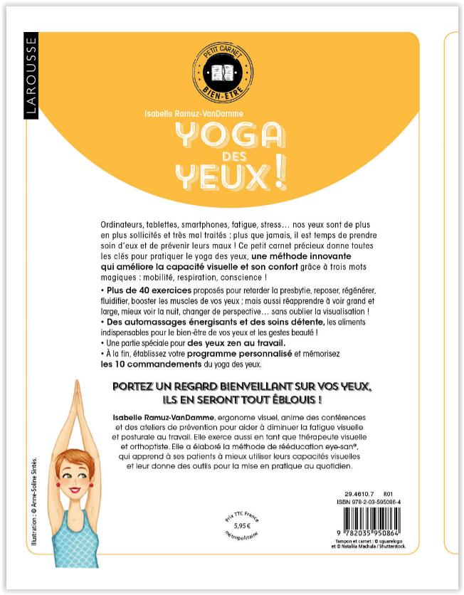 Yoga des Yeux Eye-San Éditions Larousse par Isabelle Ramuz-VanDamme