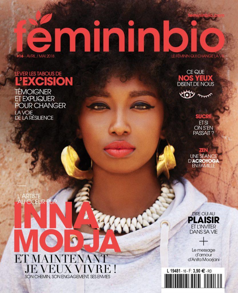 Magazine Femininbio article yoga des yeux avril 2018