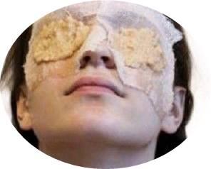 masque pomme de terre pour les yeux