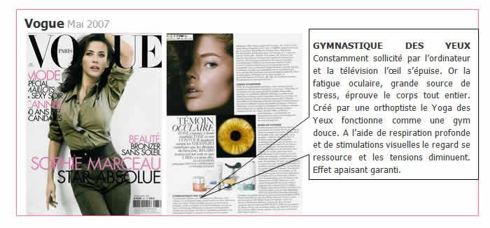 Vogue article Yoga des yeux